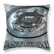 Coast Guard Throw Pillow by LeeAnn McLaneGoetz McLaneGoetzStudioLLCcom