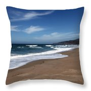 Coast Line Throw Pillow by Amanda Barcon