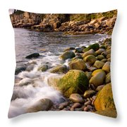 Cobble Sunrise Throw Pillow by Susan Cole Kelly