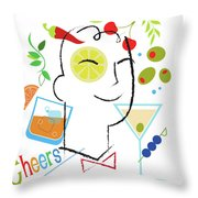 Cocktail Time Throw Pillow by Lisa Henderling