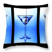 Cocktail Triptych Throw Pillow by Jane Rix