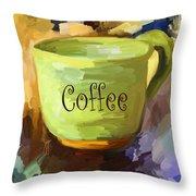 Coffee Cup Throw Pillow by Jai Johnson