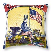 Coffee Label, C1863 Throw Pillow by Granger