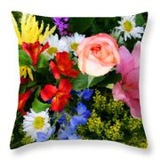 Color Explosion Throw Pillow by Kristin Elmquist