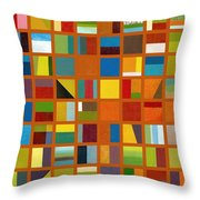 Color Study Collage 66 Throw Pillow by Michelle Calkins