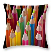 Colored Pencils Throw Pillow by Garry Gay
