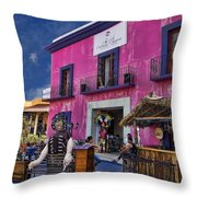Colorful Cancun Throw Pillow by Douglas Barnard