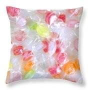 colorful candies Throw Pillow by Carlos Caetano