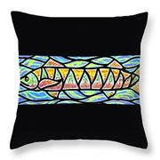 Colorful Longfish Throw Pillow by Jim Harris