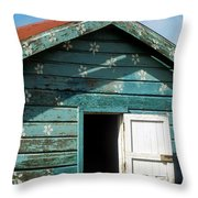 Colorful Shack Throw Pillow by John Greim