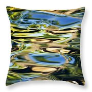Colorful Water Ripples Throw Pillow by Dave Fleetham - Printscapes