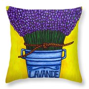Colours Of Provence Throw Pillow by Lisa  Lorenz