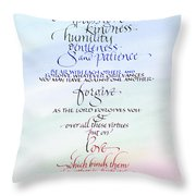 Compassion And Love Throw Pillow by Judy Dodds