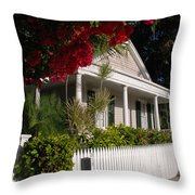 Conch House In Key West Throw Pillow by Susanne Van Hulst