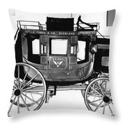 Concord Stagecoach Throw Pillow by Photo Researchers, Inc.