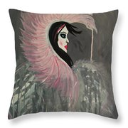 Concrete Angel Throw Pillow by LKB Art and Photography