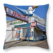 Coney Island Memories 11 Throw Pillow by Madeline Ellis