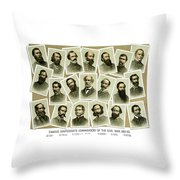 Confederate Commanders Of The Civil War Throw Pillow by War Is Hell Store