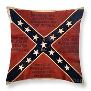 CONFEDERATE FLAG, 1863 Throw Pillow by Granger