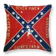 Confederate Flag Throw Pillow by Granger