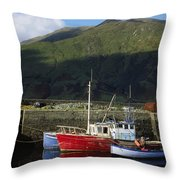 Connemara, Co Galway, Ireland Fishing Throw Pillow by The Irish Image Collection