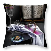 Consecrated Throw Pillow by Reggie Duffie