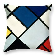 Contracomposition Of Dissonances Throw Pillow by Theo van Doesburg