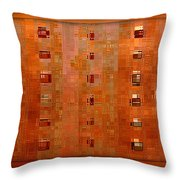 Copper Abstract Throw Pillow by Carol Groenen