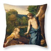 Correggio Throw Pillow by Noli Me Tangere