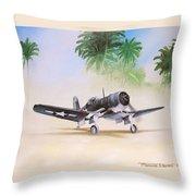 Corsair Preflight Throw Pillow by Marc Stewart