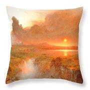 Cotopaxi Throw Pillow by Frederic Edwin Church