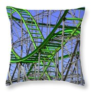 County Fair Thrill Ride Throw Pillow by Joe Kozlowski
