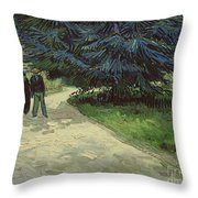 Couple In The Park Throw Pillow by Vincent Van Gogh