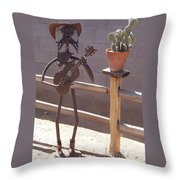 Cowboy Guitar Throw Pillow by JP Giarde