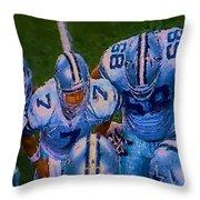 Cowboy Huddle Throw Pillow by Steven Richardson