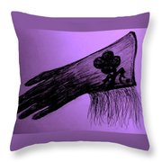 Cowgirl Glove Plum Classy Throw Pillow by Susan Gahr
