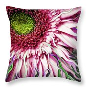 Crazy Daisy Throw Pillow by Christopher Beikmann