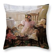 Cream And Sugar Throw Pillow by Greg Olsen