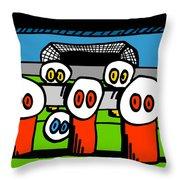 Cronkle Foosball Throw Pillow by Jera Sky