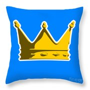 Crown Graphic Design Throw Pillow by Pixel Chimp