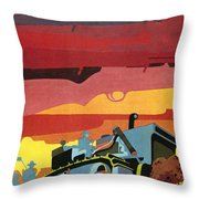 Cuban Poster, 1960s Throw Pillow by Granger