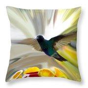 Cuenca Hummingbird Series 1 Throw Pillow by Al Bourassa
