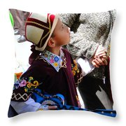 Cuenca Kids 155 Throw Pillow by Al Bourassa