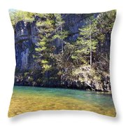 Current River 7 Throw Pillow by Marty Koch