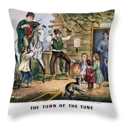 Currier  Ives Folk Tradition Throw Pillow by Granger