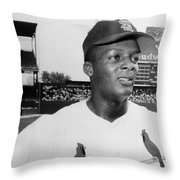 CURT FLOOD (1938- ) Throw Pillow by Granger