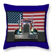 Custom Peterbilt 2 Throw Pillow by Stuart Swartz