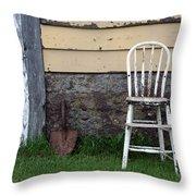 Dads High Chair Throw Pillow by Lauri Novak