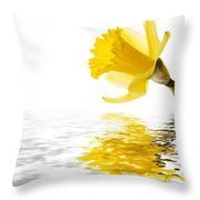 Daffodil reflected Throw Pillow by Jane Rix