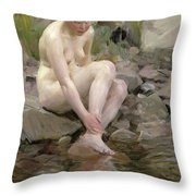 Dagmar Throw Pillow by Anders Leonard Zorn